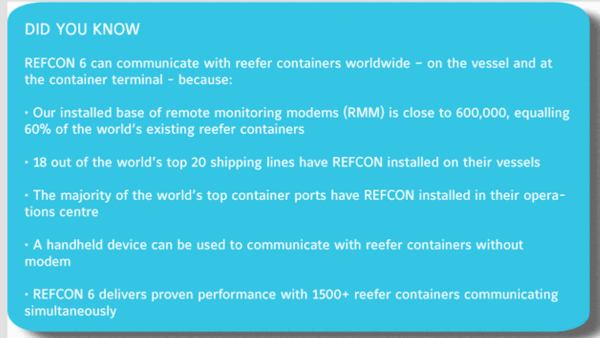 Centralization of data on a secure web server makes it possible for  shipping lines and container terminals to establish automated remote  management of all ...